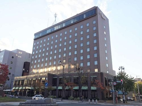 基本代金で泊まれるホテル(Sホテル)の一例 ホテルクレッセント旭川(旭川駅より徒歩7分)