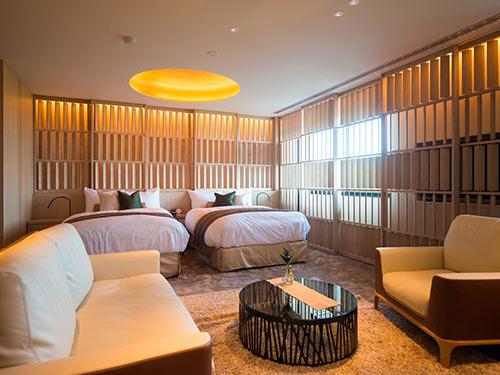 HIRAMATSU/本棟A客室ツインの一例
