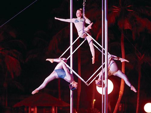 オールインクルーシブ ショーの一例 G.O(キッズクラブの先生やスタッフ)ショーのイメージ