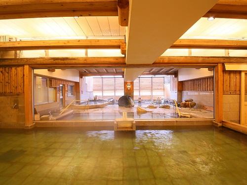 複数の湯船が楽しめる温浴施設「湯仙峡」3つの源泉と約70種類のバイキングが大人気の宿♪ 栃木県 塩原温泉に泊まろう!スタンダードプラン