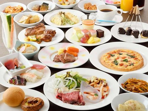 お料理(約40種の和洋ブッフェ)の一例