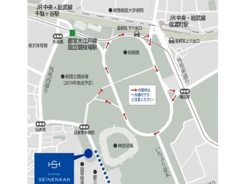 日本青年館周辺地図