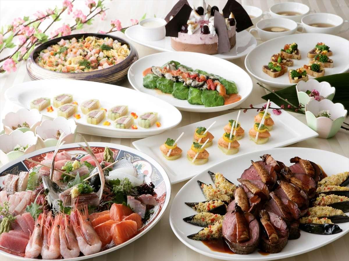 夕食は約40品の和洋ブッフェ! 【WEB】にっぽん全国 夕食バイキングの宿 バイキングプラン/ツイン