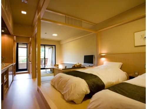 お部屋(水花の庄 露天風呂付和洋室)の一例
