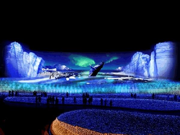 なばなの里イルミネーション(テーマ「大地」◇南極大陸 )のイメージ