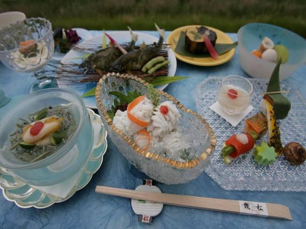 お料理(夏の会席)の一例