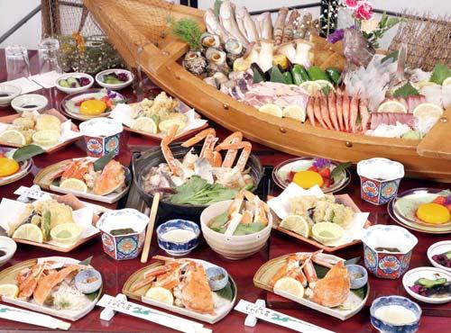 夕食「浜焼と漁師鍋」(4名様盛)のイメージ
