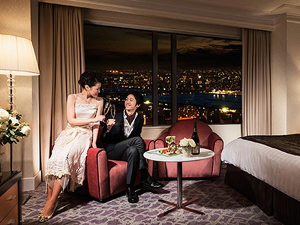 30日前までの予約がお得♪全室26階以上。澄むんだ空気に映える夜景にうっとり。 【春たび(ホテル)】 春のおでかけプラン(早30日前・モデレートダブル)