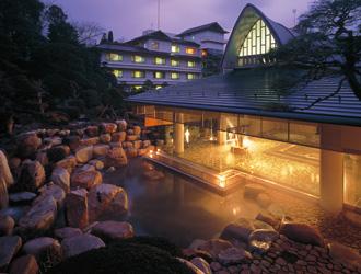 玉造グランドホテル長生閣(割増ホテル)露天風呂「神話の湯」