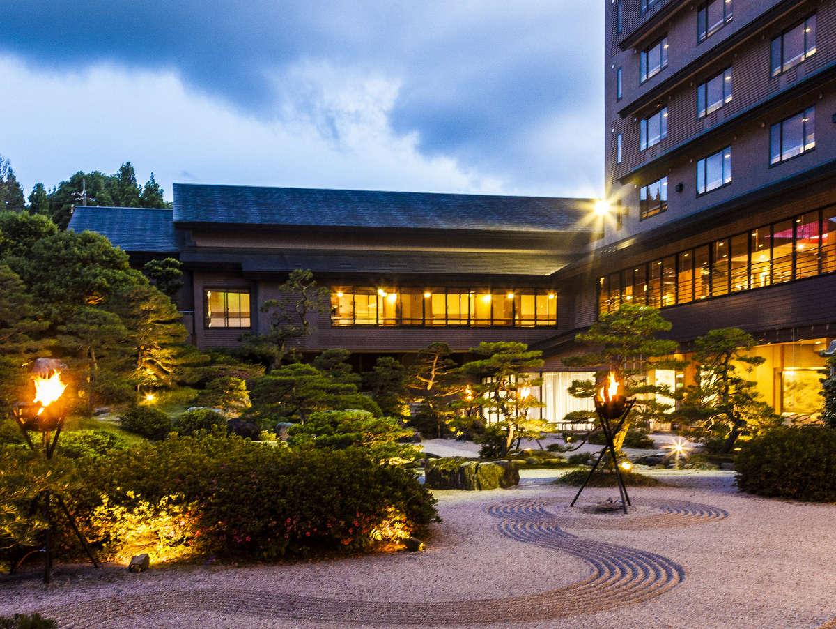 【お得なのぞみ号+特急やくも号利用】曲水の庭 ホテル玉泉