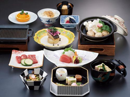 大和屋本店 お料理(夕食)の一例