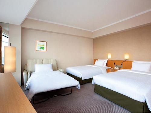 お部屋(ヒルトンツインデラックス3名1室)の一例