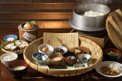 2泊目 基本(割増なし)ホテル 高千穂「ホテル四季見」 朝食の一例・イメージ