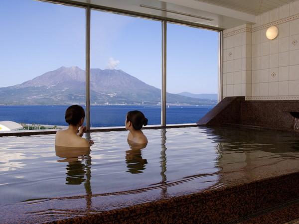 鹿児島サンロイヤルホテル お風呂(展望風呂)