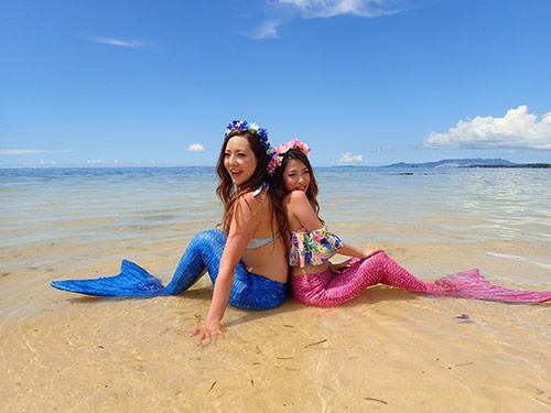 沖縄・リザンシーパークホテル谷茶ベイでマーメイド体験♪