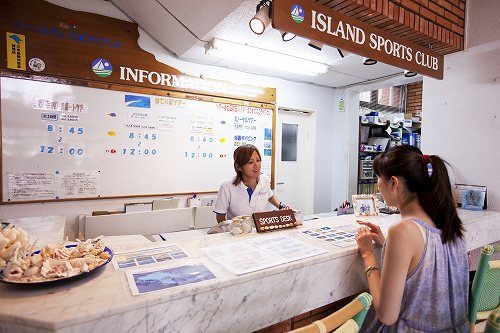 基本ホテル「リゾートホテル久米島アイランド」 スポーツデスクのイメージ