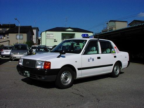 石川近鉄タクシー(小型車)の一例