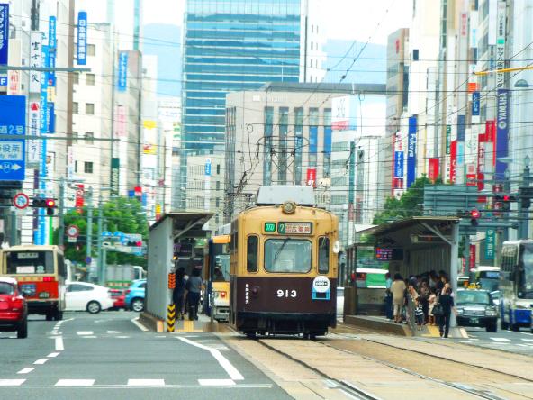 広島 路面電車のイメージ