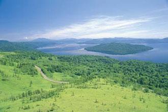 北海道ドライブ イメージ ※美幌峠から屈斜路湖)