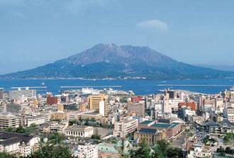 桜島と鹿児島市街 イメージ
