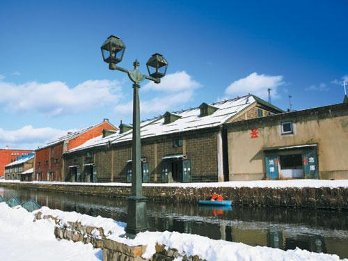 道南フリーパスで小樽へ♪小樽運河(冬)のイメージ