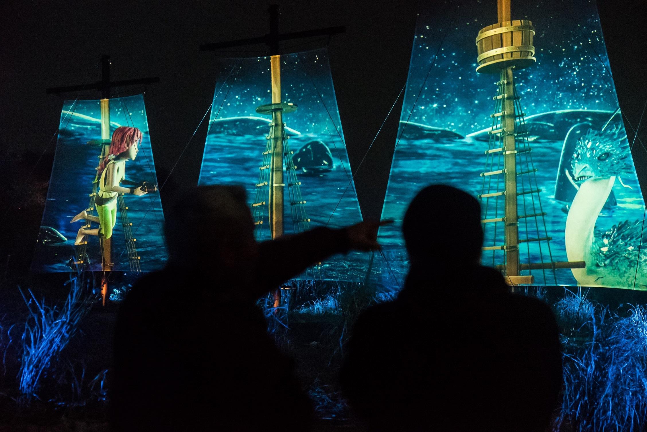 光と映像のデジタルアートが創る世界「アイランドルミナ」 イメージ