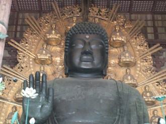東大寺盧舎那仏像(大仏) イメージ(定期観光バス行程中)