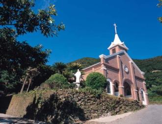 福江島 井持浦教会ルルド
