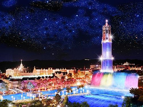 ハウステンボス 光の王国 光の滝のイメージ