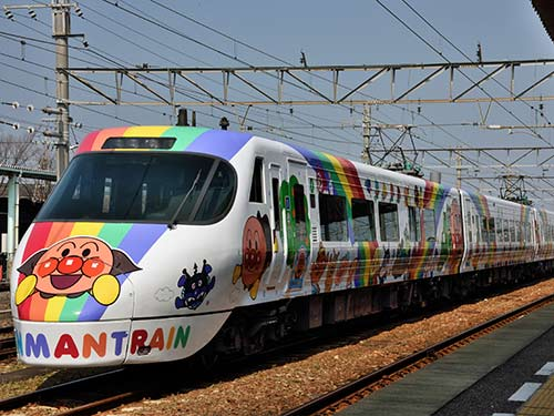 予讃線アンパンマン列車のイメージ