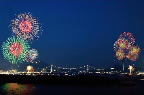 関門海峡花火大会のイメージ