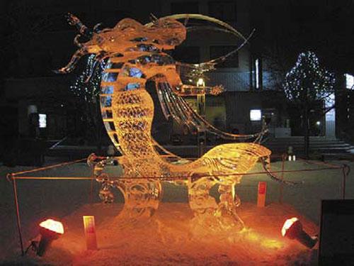 旭川冬まつり(氷の彫刻)のイメージ