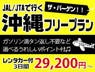 【沖縄本島】1,500名様限定!JAL/JTAで行く ザ・バーゲン沖縄