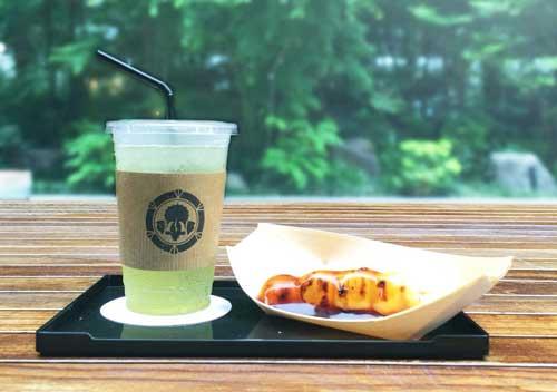 みたらし団子1本+冷茶セットのイメージ