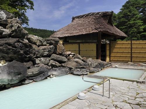 400年間絶える事のない源泉100%乳白色の湯、7種のお風呂を満喫♪ 福島県に泊まろう! 高湯温泉がオススメ♪ トイレ付和室【朝食付】
