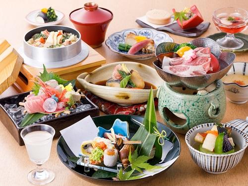 夕食(会席料理)の一例