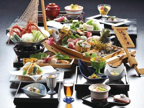 夕食「紀州舟盛会席」(舟盛は2名様盛)のイメージ