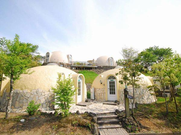 安らぎに満たされたまぁるいお部屋に泊まって、みんなでカラダにいいことしよう! 熊本へ行こう♪【気ままに九州】 宿泊プラン ヴィレッジゾーン