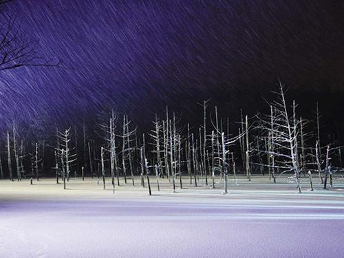 青い池 2月頃撮影 イメージ