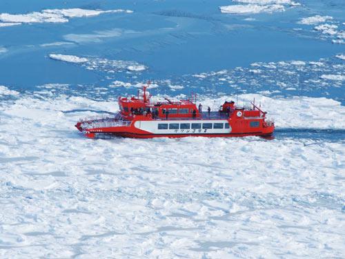 紋別流氷砕氷船「ガリンコ号3号」乗船