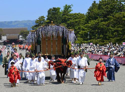 京都葵祭 京都御苑側からの観覧