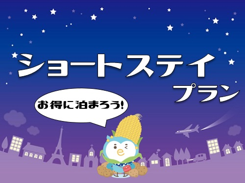 ショートステイでお得に泊まろう♪ ビジネスに!観光に!北海道 函館・元町ステイ!19時イン→9時アウトプラン セミダブル